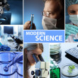 Modern science collage  — Stock Photo #46323365