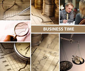 Business time collage set — Stock Photo