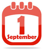 значок календарных дней знаний — Cтоковый вектор