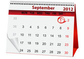 Holiday calendar September 1 — Stock Vector