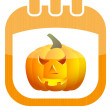 Icon calendar Halloween — Stock Vector