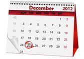 Holiday calendar for Christmas — Stock Photo