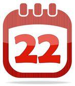 Icon calendar Thanksgiving Day — Stock Photo