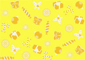 Seamless yellow background for Christmas — Stock Photo