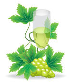 Glasses of white wine — Stock Vector
