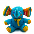 Toy blue elephant - Stock Photo
