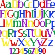 Merry multicolored alphabet — Stock Vector