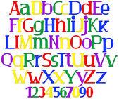 Joyeux alphabet multicolore — Vecteur