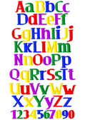 Merry multicolored alphabet — Vettoriale Stock