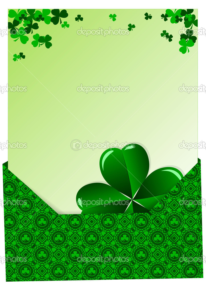 Greeting Card St. Patrick's Day with clover — Stock Vector #20196867