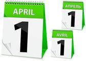 Icon calendar for April 1 — Stock Vector