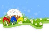 Greeting card for Easter — Stockvector