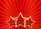 Greeting card with red stars — Stock Vector