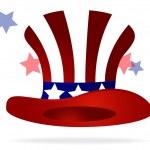 American top hat — Stock Vector