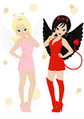 Angel and devil — Stock Vector