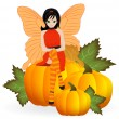 Autumn Fairy — Stock Vector #26571591