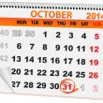 Calendar for Halloween — Stock Vector