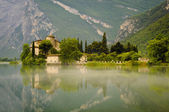 Medieval Castle on Toblino Lake, Trentino, Italy — Stock Photo