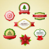 Christmas labels set — Stock Vector