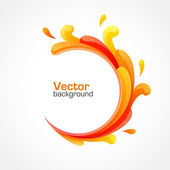 Orange splash background — Stock Vector