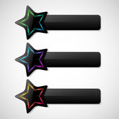 Banners set with stars — Vecteur