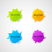 Splatter labels — Stock Vector