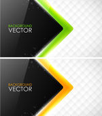 Abstract vector business cards — Stock Vector