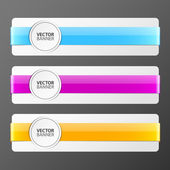 Set of colorful vector banners — Stock Vector