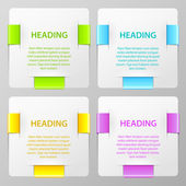 Set of vector colorful banners — Stock Vector