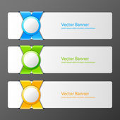 Set of vector banners — Stock Vector