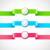 Set of vector ribbons — Stock Vector
