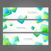 Set of vector banners — Stockvektor