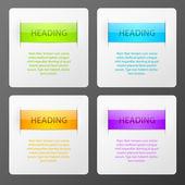Conjunto de coloridos carteles que vector — Vector de stock