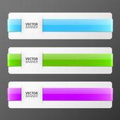 Conjunto de banderas coloridas vector — Vector de stock