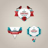 Christmas labels set — Vector de stock