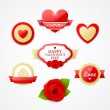 Bright Valentines day labels — Stock Vector