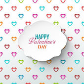Bright Valentines day background — Stok Vektör