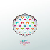 Bright Valentines day background — Vecteur