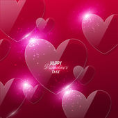 Bright Valentines day background — Wektor stockowy