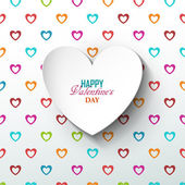 Bright Valentines day background — Stock Vector