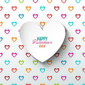 Bright Valentines day background — Stock vektor