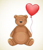 Valentines day bear — Vector de stock