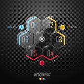 Glass infographic design — Stock Vector