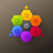 Glass colourful design — Stock Vector