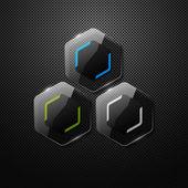 Lesklé štítky — Stock vektor