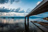 Genèvesjön brygga — Stockfoto