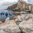 Boats at Riomaggiore, Italy — Stock Photo #14148684