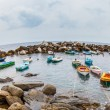 Stock Photo: Boats at Riomaggiore, Italy