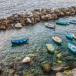 Boats at Riomaggiore, Italy — Stock Photo