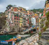 Colored Walls, Riomaggiore, Italy — Stock Photo